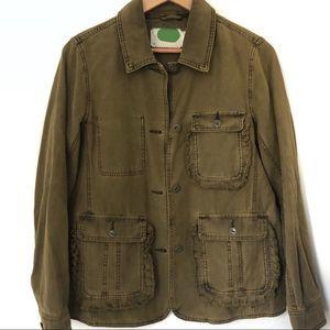 Anthro Army Green Utility Jacket Coat